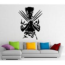 Wolverine Superhero Wall Decal Wall Vinyl Sticker Marvel Comics Interior Home Art Wall Murals Bedroom Home Decor (7w01ne)