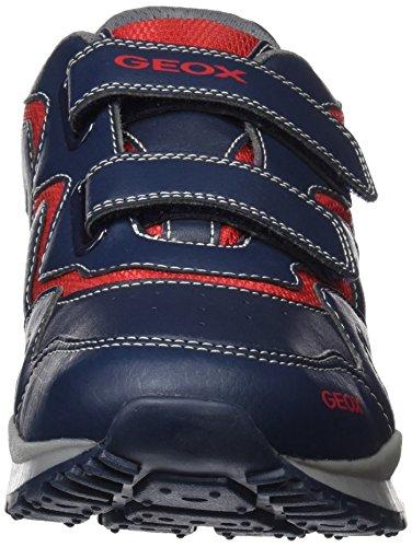 Geox Unisex-erwachsene J Pavel A Sneaker Blau (navy / Rosso)