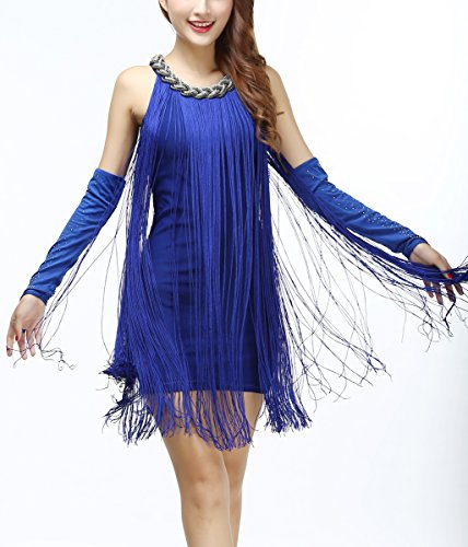Fringe Prohibition Speakeasy Wine Club Wedding Theme Dresses Costumes Blue