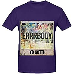 Yo Gotti Errrbody Mens Crew Neck Diy Tee Shirts Purple