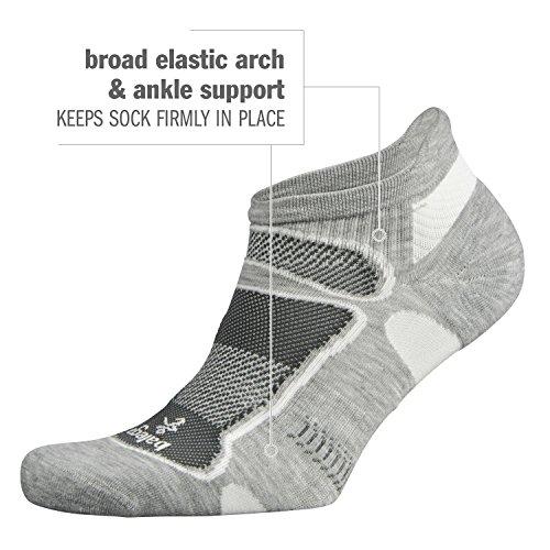 Balega Ultralight No Show Athletic Running Socks for Men and Women (1-Pair), Black/Lime, Small