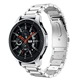 WaiiMak Luxury Stainless Steel Watchband Replacement Strap for Samsung Galaxy Watch 46mm