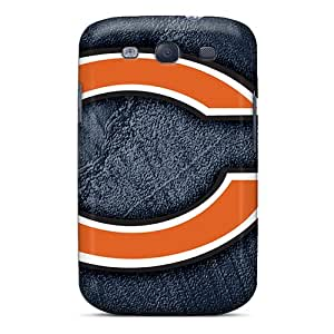 NataliaKrause Samsung Galaxy S3 Protective Hard Phone Covers Allow Personal Design Fashion Chicago Bears Image [LwU10082MBWO]