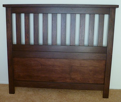 Mission-style headboard. Queen or Full built of sustainable multiply. Shipped flat pack.