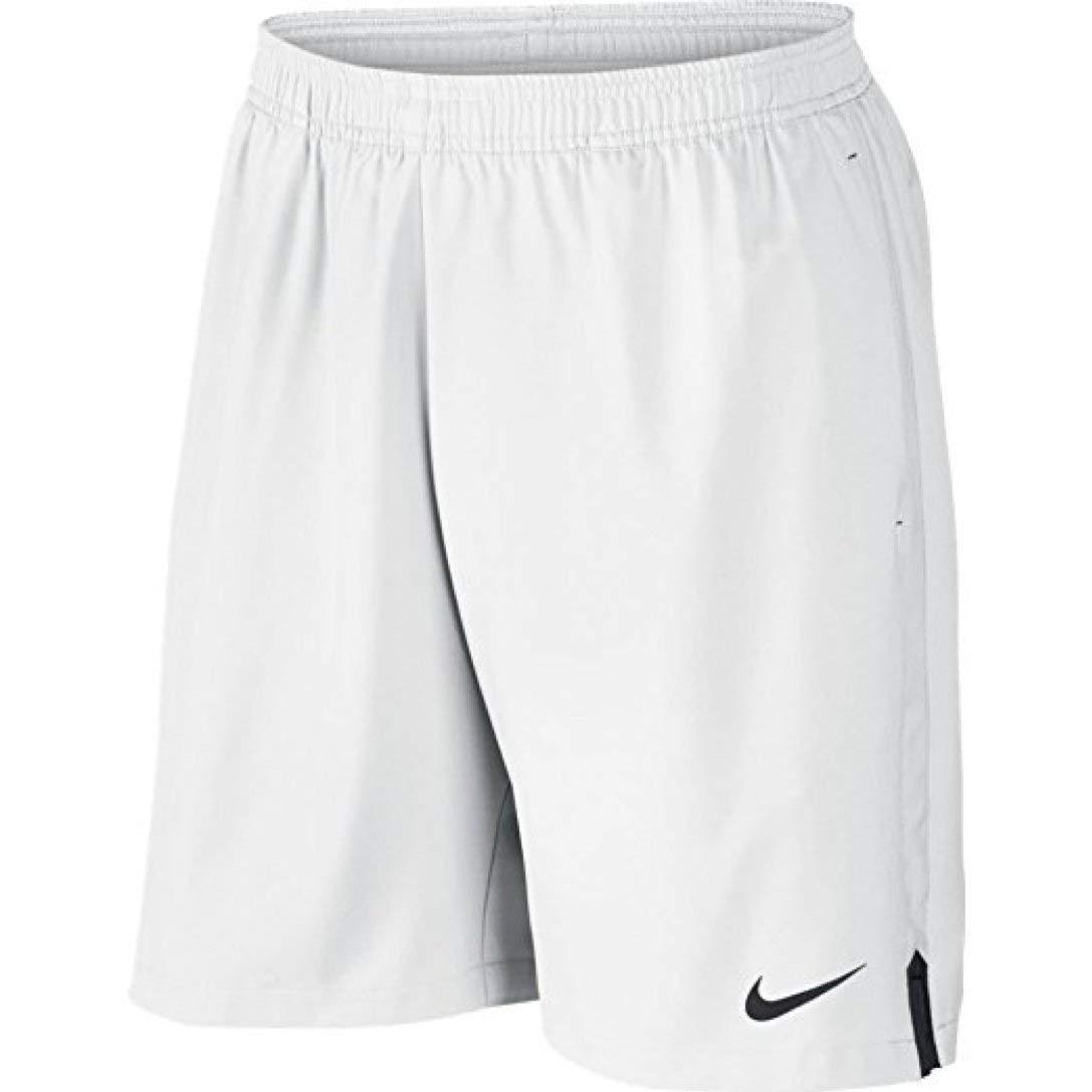 """Nike Men's Court 9"""" Short, White/Black, Small"""