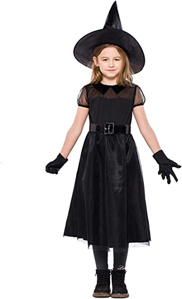 Amazon.com: ALLAIBB Disfraz de bruja clásica para niña ...