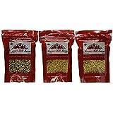 Hoosier Hill Farm Popcorn, Set of 3 Varieties 4.5 lbs/2041G (Lady Finger, Baby White, Purple)