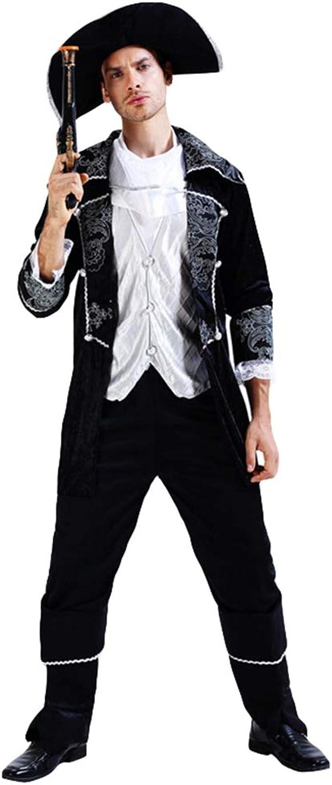 Jitong Trajes de Piratas Gracioso, Disfraces Halloween Adultos ...