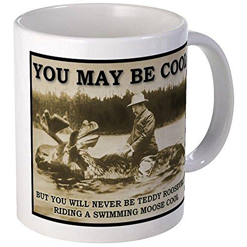 CafePress Teddy Roosevelt Moose Cool Funny T Shirt Mug Unique Coffee Mug, Coffee Cup