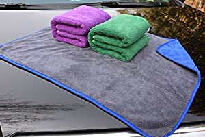 HOPESHINE Microfiber Car Cleaning Cloths Ultra Soft Buffing Wax Polish Towels Thick Car Wash Auto Detailing Towel