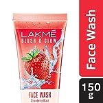 LAKMÉ Blush & Glow Freshness Gel Face Wash, Strawberry Extracts, 150g