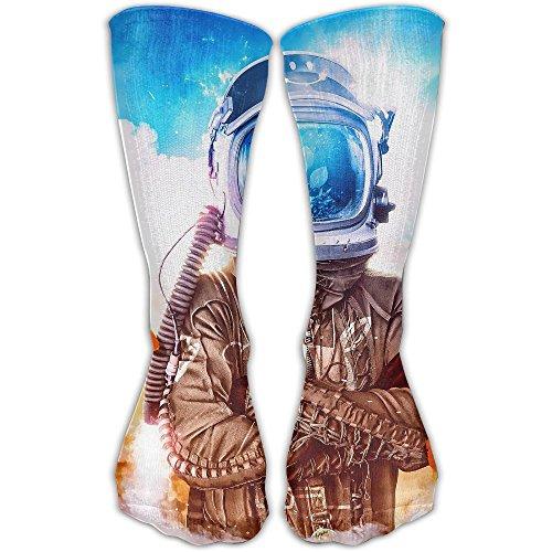 YUANSHAN Socks Helmet Astronaut Women & Men Socks Soccer Sock Sport Tube Stockings Length 11.8Inch]()