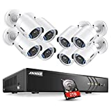 ANNKE CCTV Camera Systems 8+2 Channel 1080P H.264+ DVR and 8×1080P FHD Weatherproof HD-TVI Bullet Cameras, 2TB Surveillance Hard Drive, Smart Search/Playback, Email Alert with Snapshots Review