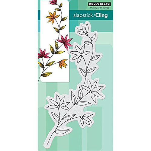 Penny Black Cling Rubber Stamp 3.75-inch x 7.5-inch Sheet-Delightful by Penny Black 40