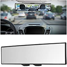 "Yoolight Car Rearview Mirrors, Car Universal 12'' Interior Clip On Panoramic Rear View Mirror Wide Angle Rear View Mirror (12"" L x 2.8"" H)"