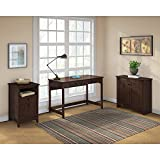Buena Vista Writing Desk with Low Storage and 2 Drawer File Cabinet