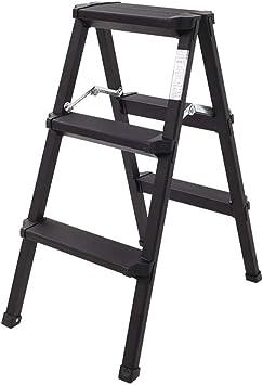 Escaleras de tijera Escalera plegable de aluminio de 3 escalones, robusta escalera de servicio pesado, escalera ligera y portátil Taburete de escalera Escalera plegable: Amazon.es: Bricolaje y herramientas