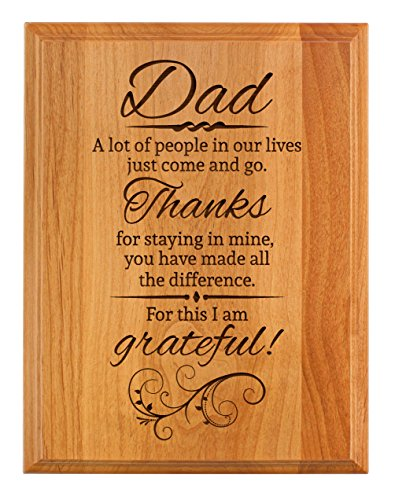ThisWear Father Day Gifts for Dad Thanks for Staying in My Life Father Day Gifts for Dad 7×9 Oak Wood Engraved Plaque Wood