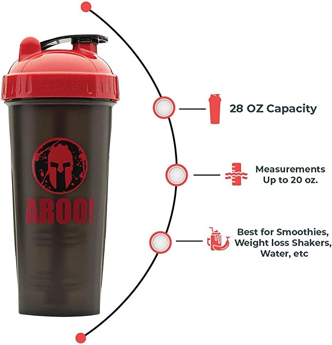 Best Leak Free Bottle with Actionrod Mixing Technology for Your Sports /& Fitness Needs Dishwasher and Shatter Proof Spartan Shaker Bottle 28//20oz PerfectShaker Performa