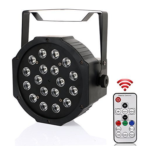 LaluceNatz 18LED Par Lights for Stage Lighting with RGB Magic Effect by Remote Control and DMX512