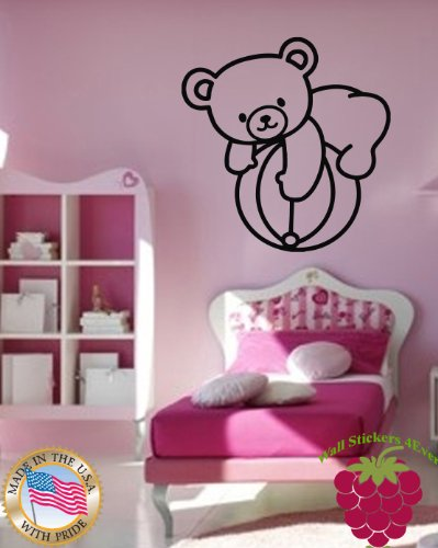 Wall Stickers Vinyl Decal Bear Ball Toy For Kids Nursery Home Decor ig663 by WallStickers4ever