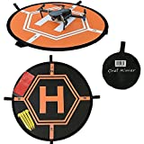 """Chef Rimer Drone Landing Pad 30"""" 75cm Universal - Quadcopter DJI Mavic Spark Pro Inspire 1 GoPro Karma RC Aircraft Antel Robotic Parrot Phantom 2 3 4 Remote Control Helicopters 3DR Solo Launch Helipad"""