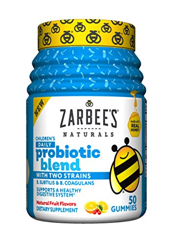 Zarbee's Naturals Children's Daily Probiotic Blend with 2 Strains, Natural Fruit Flavors, 50 Count