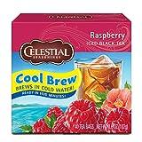 Celestial Seasonings Cool Brew Iced Tea, Raspberry, 40 Count Box (Pack of 6)
