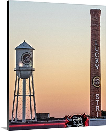 ry-Wrapped Canvas entitled Lucky Strike Water Tower and Smokestack, American Tobacco Historic District, Durham, NC by Circle Capture 20
