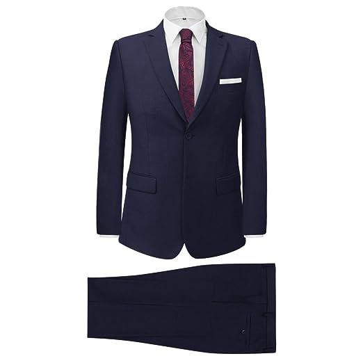 FESTNIGHT Traje de Hombre Dos Piezas con Corbata Azul Marino ...