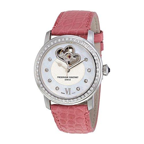 Frederique Constant Heartbeat Automatic Diamond Black Dial Ladies Watch FC-310BDHB2PD6-PK