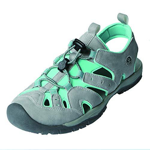 Northside Women's Burke II Sport Sandal, Light Gray/Turquoise, Size 7 M US