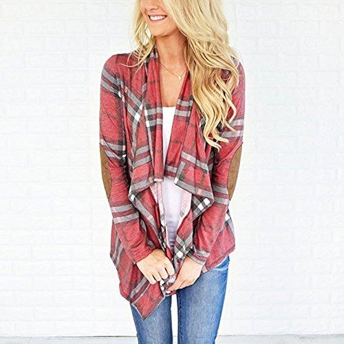 Automne Veste Swag Chic Femme Mode Impression Manteau Chaud Jacket Blouson Doudoune Rose Casual Carreaux Hiver Casual Petalum Sport Veste Mince Chemise w1CnBUq