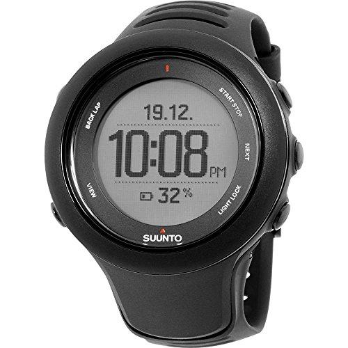 Suunto Ambit3 Sport Black (HR) Digital Display Quartz Watch, Black Elastomer Band, Round 50mm Case