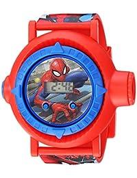 Spider Man - Reloj de cuarzo para niño, de plástico, color: rojo (modelo: SPD4430)