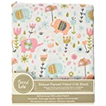 Trend-Lab-Playful-Elephants-Deluxe-Flannel-Fitted-Crib-Sheet