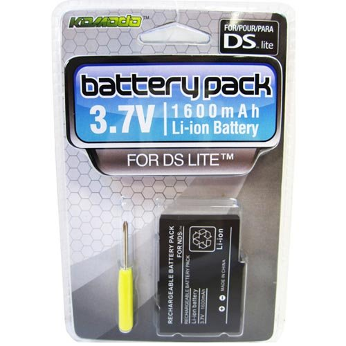 [KMD DS Lite Rechargeable Battery Pack with Screwdriver] (Nintendo Ds Battery Replace)