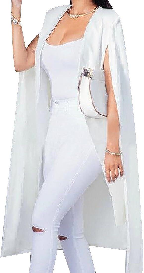 Comfy Women Sleeveless Solid Blazer Suit Coat Tops Blazer Outwear