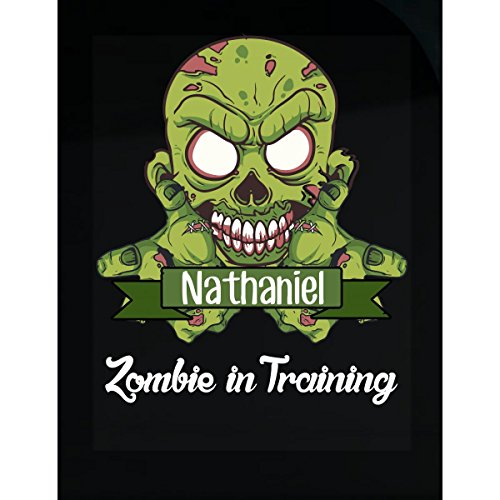 Halloween Costume Nathaniel Zombie In Training Funny College Humor Gift - Sticker