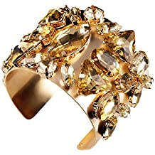 Holylove 3 Color Gold Cuff Bracelet for Women Silver Adjustable Bangle Novelty Jewelry 1 PC with Gift Box