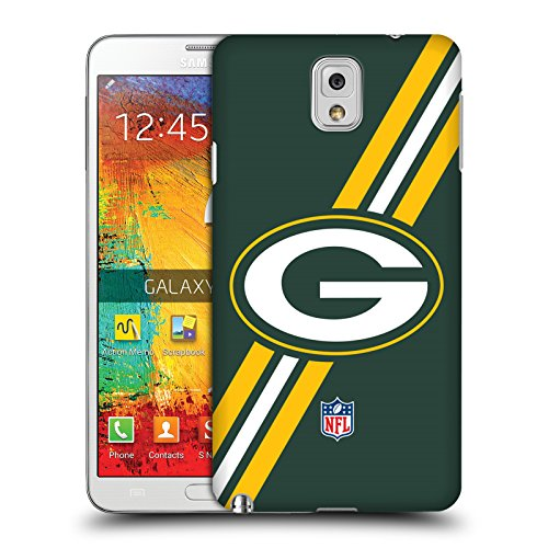 Official NFL Stripes Green Bay Packers Logo Hard Back Case for Samsung Galaxy Note 3