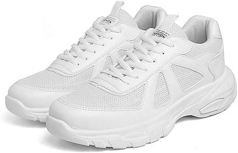 LLWAD Zapatillas de Deporte Zapatillas de Confort para Hombres PU (Poliuretano) Zapatillas Deportivas de Primavera Zapatillas para Caminar Blanco/Negro/Beige: Amazon.es: Deportes y aire libre