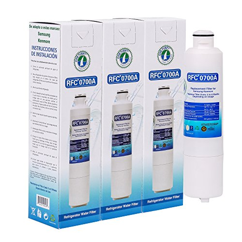 Price comparison product image OnePurify RFC0700A3PK DA29-00020B HAF-CIN / EXP Compatible Refrigerator Water Filter (3 Pack)