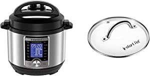 Instant Pot Ultra Mini 10-in-1 Electric Pressure Cooker, Sterilizer, Slow Cooker, Rice Cooker, Steamer, Sauté, Yogurt Maker, Cake Maker, Egg Cooker, and Warmer, 3 Quart & 3 Quart Glass Lid
