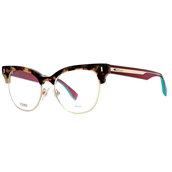 97f46051b41 Fendi - COLOR BLOCK FF 0163, Cat Eye, acetate, women, HAVANA CYCLAMEN(VHB),  51/17/140: Amazon.co.uk: Clothing