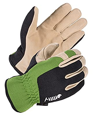 SKYDEER Hi-Performance Super Soft Deerskin Leather Suede Utility Grip Work Gloves