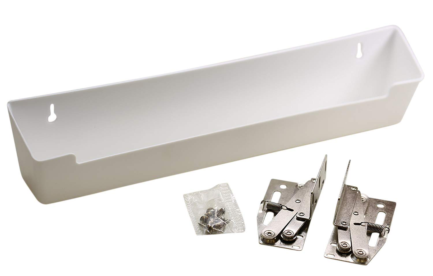 Hamilton Bowes Sink Front Tip-Out Tray (14-3/4'' with Hinges, White) by Hamilton Bowes