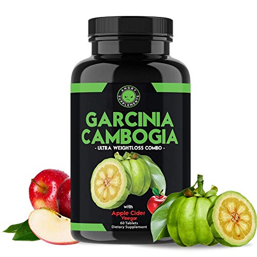 Angry Supplements Garcinia Cambogia with Apple Cider Vinegar Pills for Weightloss – Natural Detox Remedy Includes…