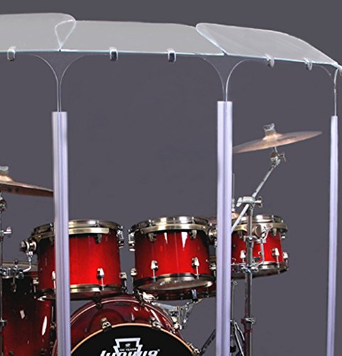 Acrylic Drum Shield - Drum Shield / 6 Panel Drum Shield with Deflectors 5ft Tall