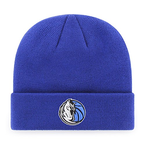 Cuff Knit Hat - OTS NBA Dallas Mavericks Raised Cuff Knit Cap, Royal, One Size